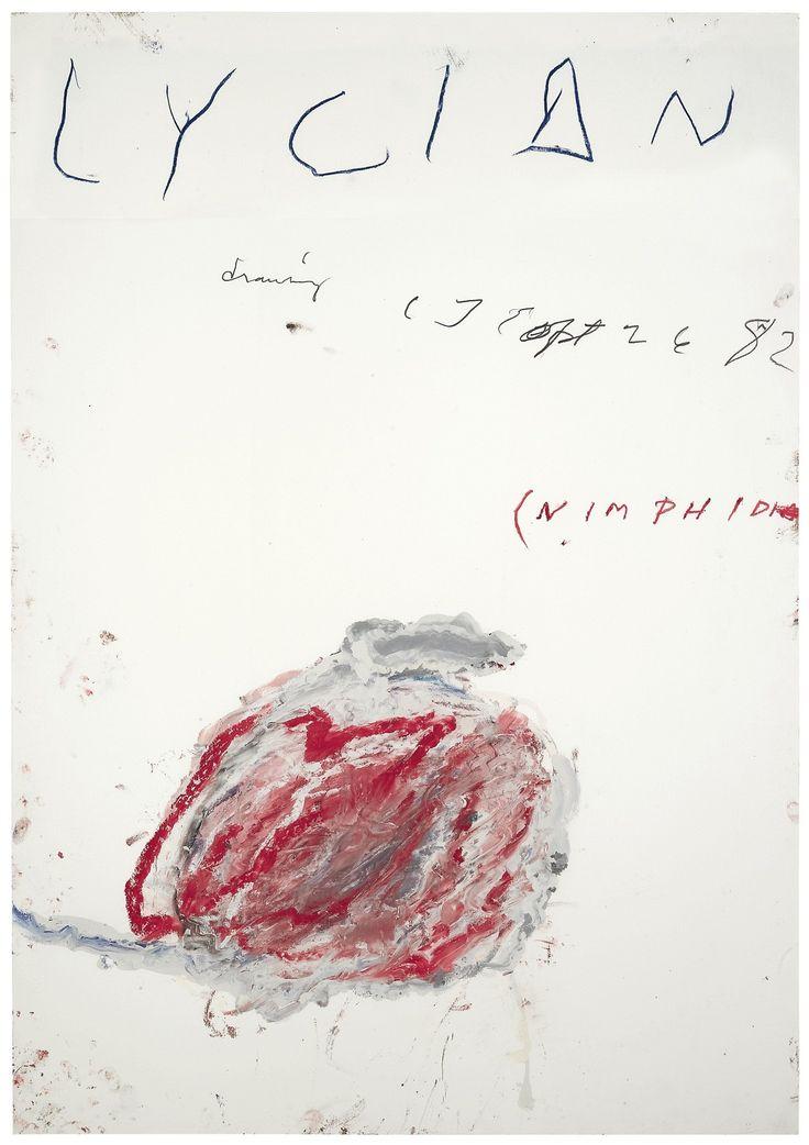 Cy Twombly (1928-2011), Lycian Drawing (Nimphidia), 1982