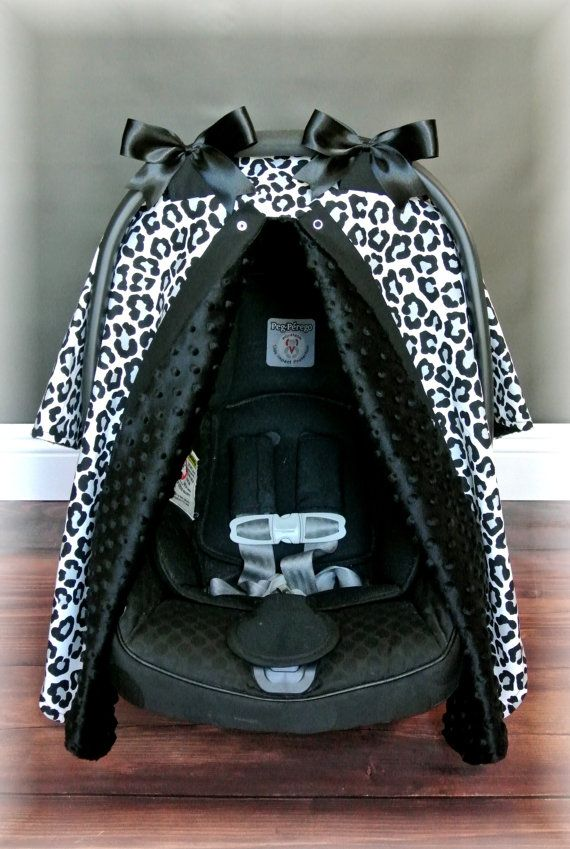 Discontinued Black Minky Car Seat Canopy Car Seat