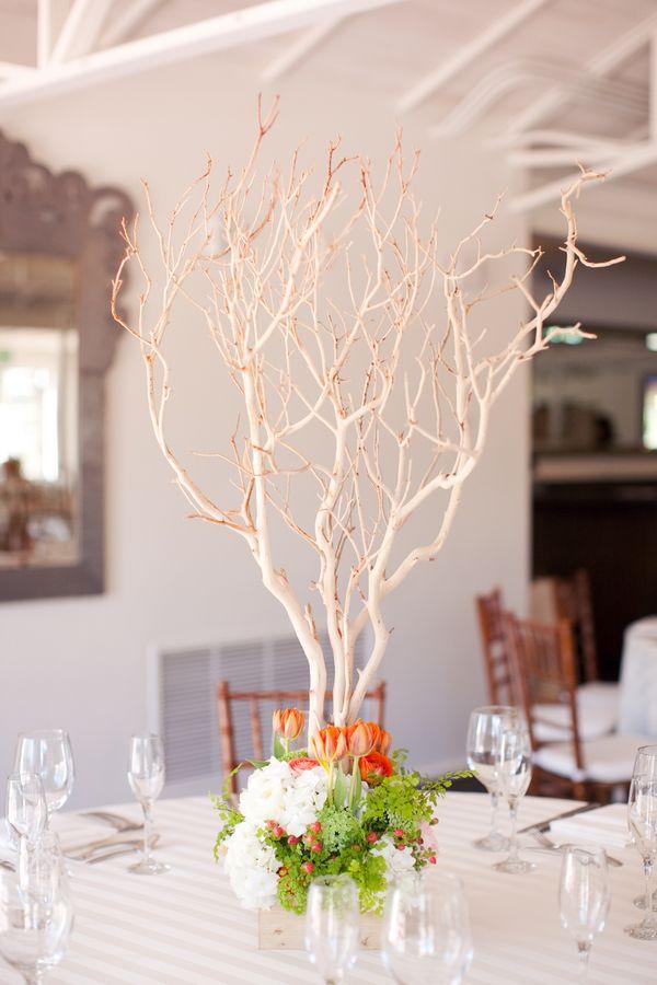 Branch Centerpiece : Best manzanita branches wedding flowers images on