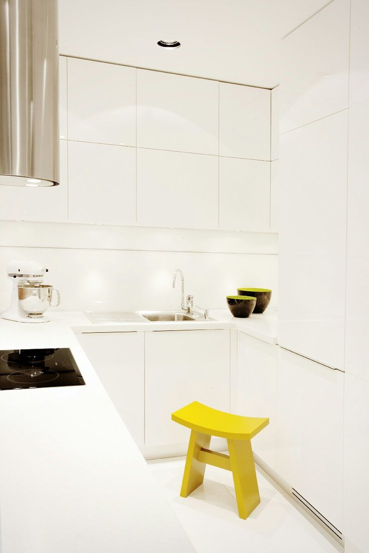 White stylish kitchen #kitchendesign