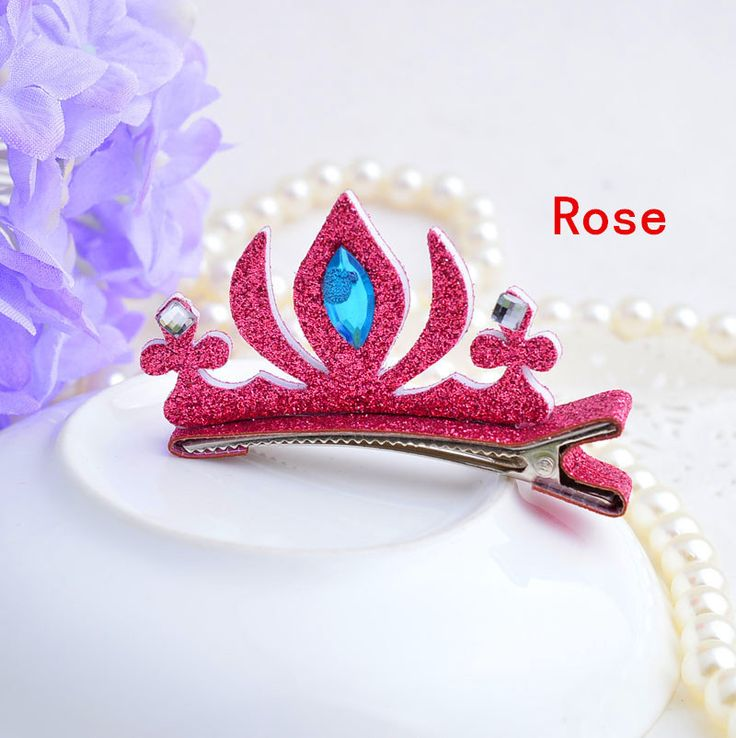 Fashion cartoon Tiaras hairpins for baby gilrs designer hair accessory stereoscopic crystal colored crown barrettes 20pcs
