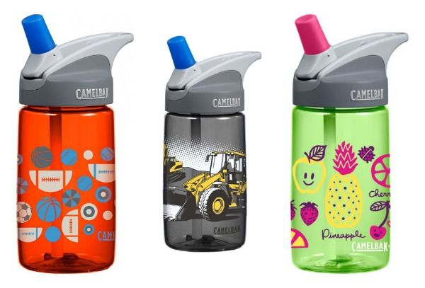 Camelbak Eddy Kids Drink Bottles- 400 mls. The CamelBak drink bottles for kids are reusable water bottles with a straw, a no-spill system and are made of stain-resistant and taste-resistant BPA-Free Eastman Tritan™ Copolyester.