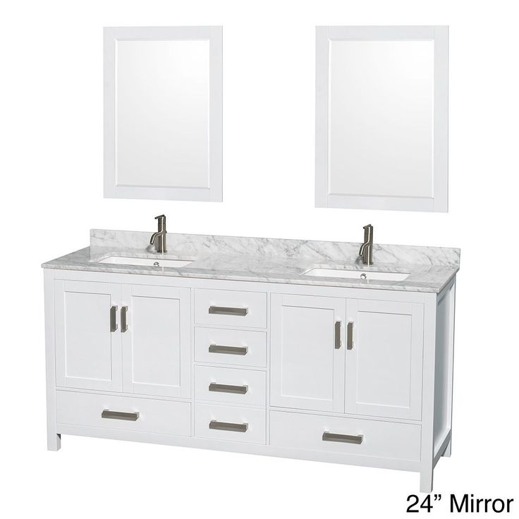 Pictures In Gallery Wyndham Collection Sheffield White Double Vanity Overstock Shopping Great Deals on Wyndham Collection Bathroom Vanities