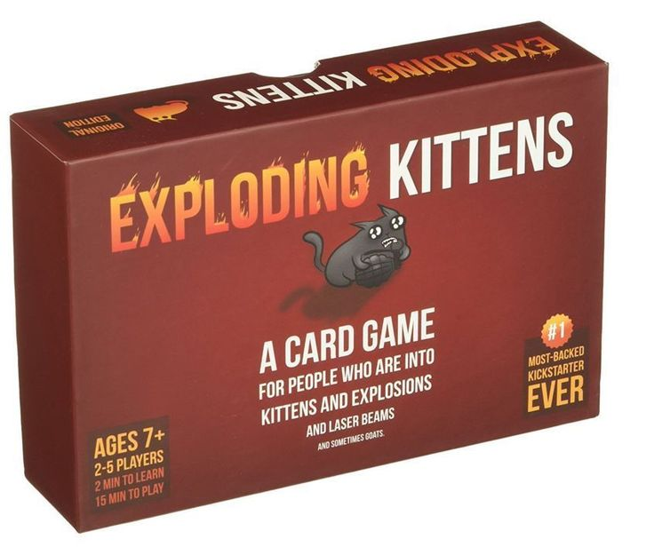 Exploding Kittens: A Card Game About Kittens And Explosions And Sometimes Goats #ExplodingKittensLLC