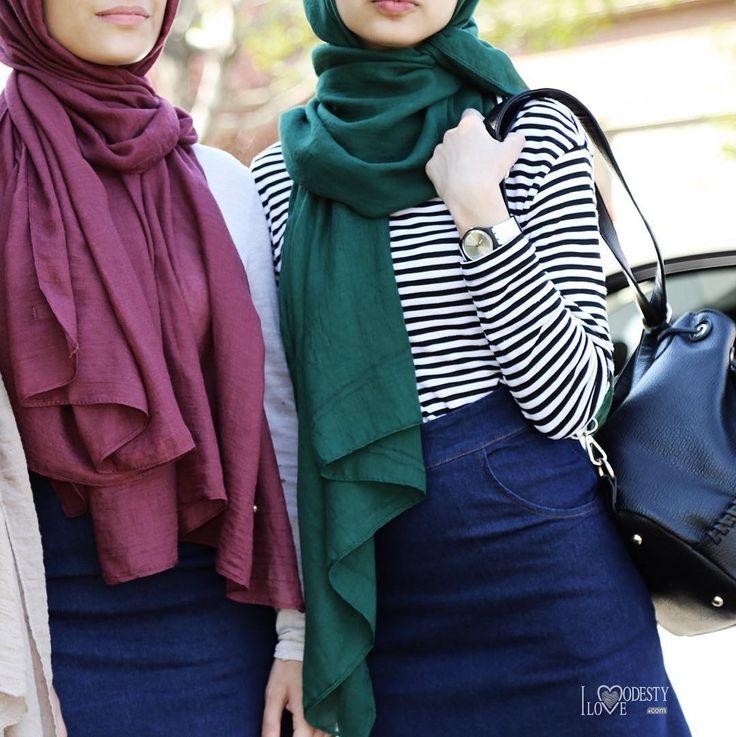 Perfect and light outfit for the summer. ♡ - Cottonlite hijabs - Denim maxi skirt . #ilovemodesty #ilovemodesty_ #hijab #modesty #modest #curvedhemtop #longsleevetop #chiffonskirt #maxiskirt #muslimah #chiffonhijab #modestoutfit #hijabstoretoronto