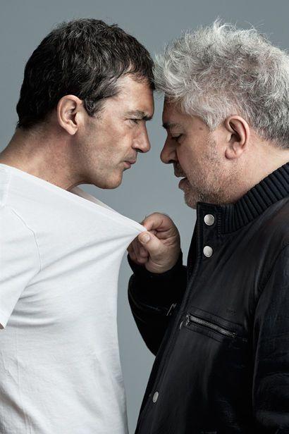 Antonio Banderas and Pedro Almodóvar by André Rau, 2011