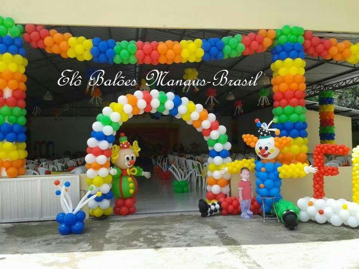 Payasos tema circo pinterest for Ornamentacion para fiesta de 15