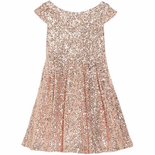 Ready to wear 'Hannah-belle' flower girl or junior bridesmaid sequin dress with…