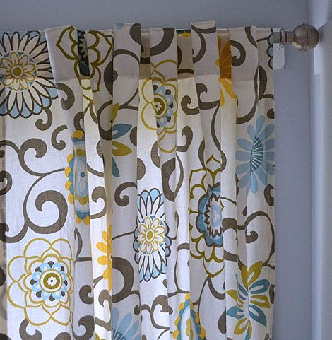 how to make your own curtains. i definitely want to do this...nothing i can find that is already made really fits my taste