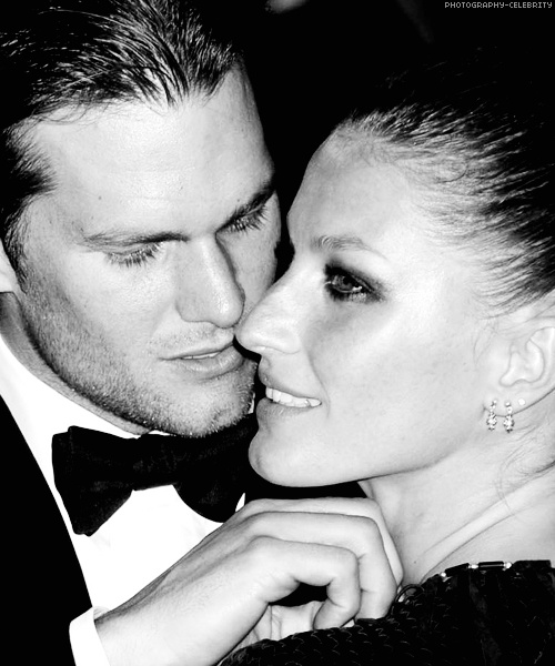 Tom Brady and Gisele Bundchen- *replaces Gisele's face with mine*