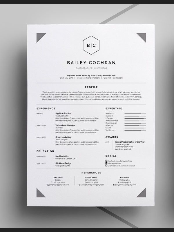 69 best CV images on Pinterest Resume templates, Cv template and - professional cv template