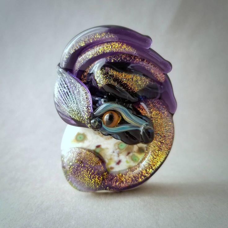 Handmade Lampwork Bead - Fiona - SRA Lampwork Glass Dragon Bead by Mary Lockwood by marylockwood on Etsy