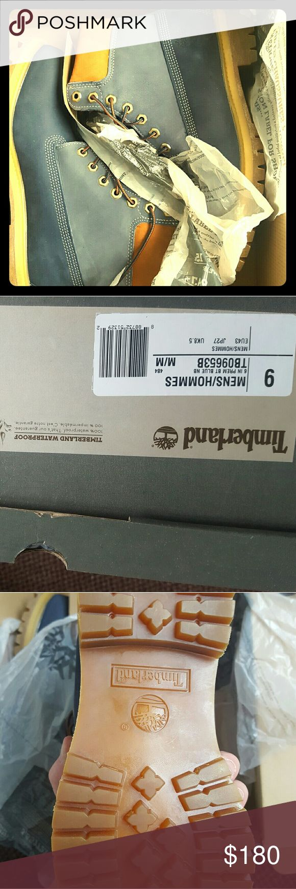 Timberland Boots Brand new two tone blue timberland boots never worn. Timberland Shoes Winter & Rain Boots