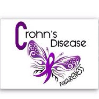 Crohns awareness butterfly