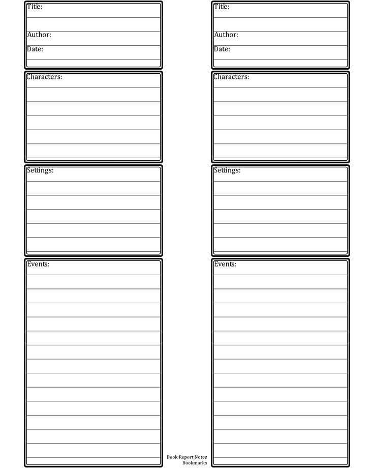 Printable Book Report and Ruler Bookmarks with