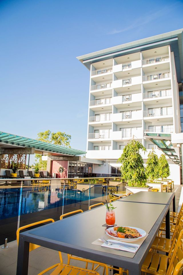 Breakfast, poolside, at #Rydges Palmerston Darwin.
