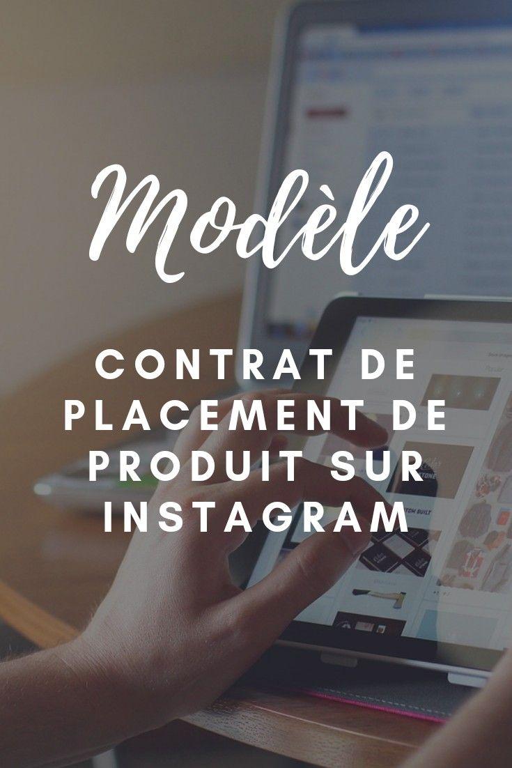 Contrat De Placement De Produit Avec Un Influenceur Sur Instagram Modele De Contrat Contrat Placement
