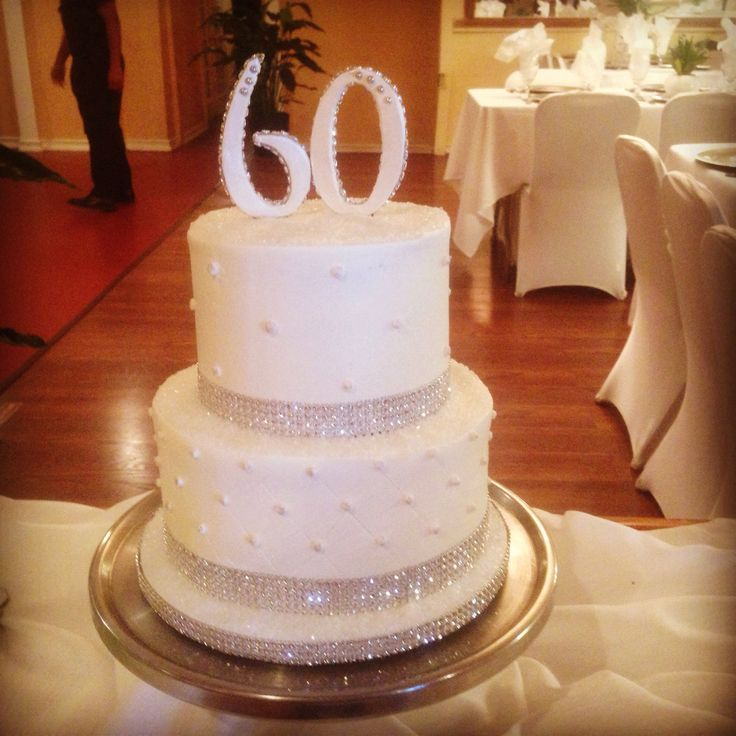 My parent 39 s 60th wedding anniversary cake food glorious food pinterest wedding - Th anniversary cake decorations ...