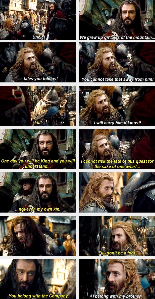 The Hobbit: The Desolation of Smaug --- I was not pleased with Thorin during these scenes.  At all.