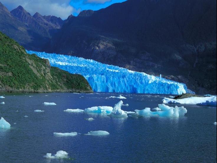 San Rafael Lake And Glacier in Chile