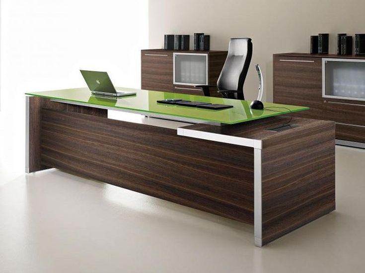 Escritorio de oficina ejecutivo rectangular con cajones Colección Eos by Las…