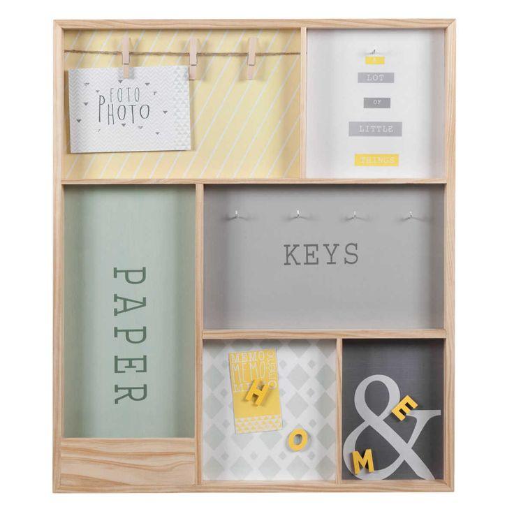Tableau à clés en bois  43  x 51 cm HOME VINTAGE