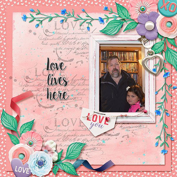My loves, hubby and little Miss Teyla. Vesi Designs - You Are Loved is a bright colorful kit filled with all manner of elements and pretty papers to scrap your loves.