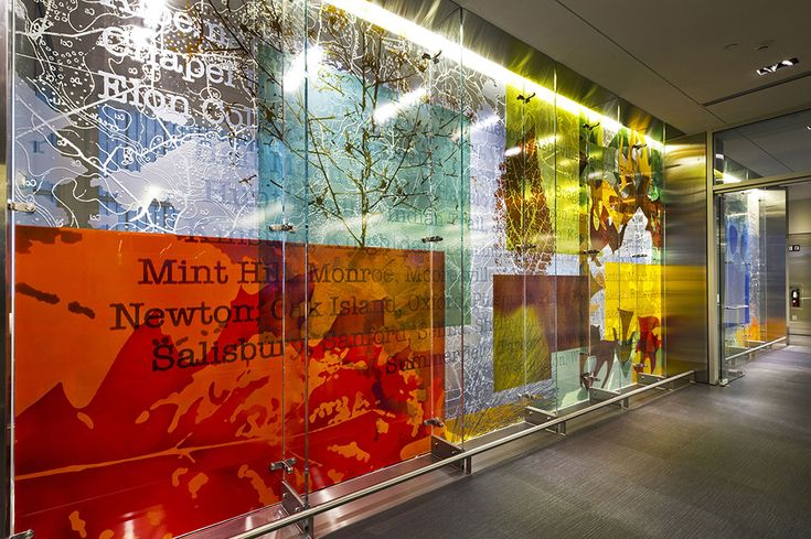 Martin Donlin | Architectural Glass Artist » Raleigh Durham Airport Terminal 1 North Carolina USA