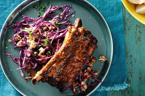 You'll be licking your fingers after eating these golden, sweet, sticky ribs.