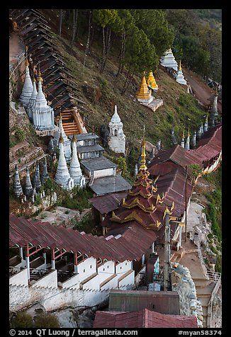 Hsaungdan (covered stairway) to the caves. Pindaya, Myanmar