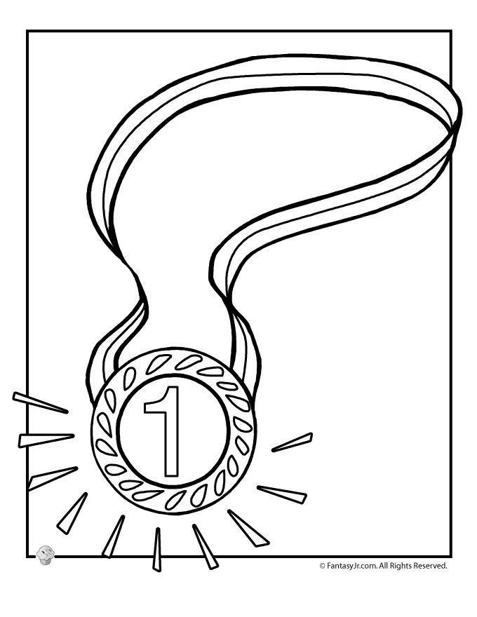 Summer Olympics Coloring Pages 1 Gold Medal Coloring Page