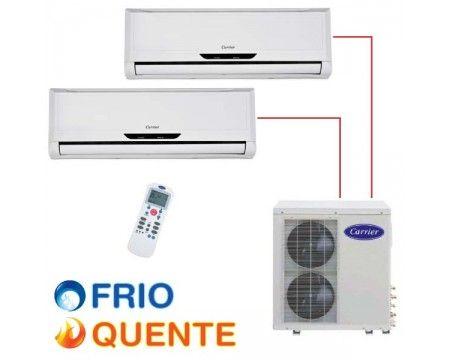 Ar Condicionado Carrier 18.000 BTU/h (2x 09.000) multi-split quente/frio 220V