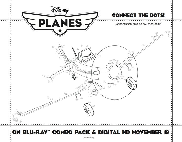 DisneyPlanes Connect The Dots Coloring Page