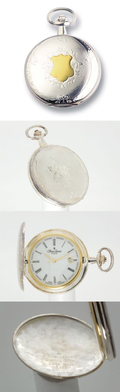 Modern 3938: Pierre Laurent 5302 Swiss Made Sterling Silver Pocket Watch -> BUY IT NOW ONLY: $526.5 on eBay!