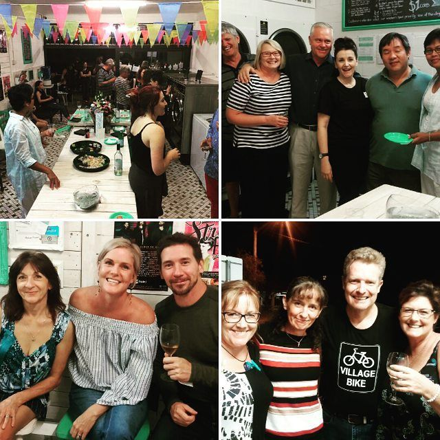 This was a white wine and sushi party in our laundromat and a lot of fun! We celebrated one year of owning Koala Park Laundromat in Burleigh Heads on the Gold Coast - Australia.