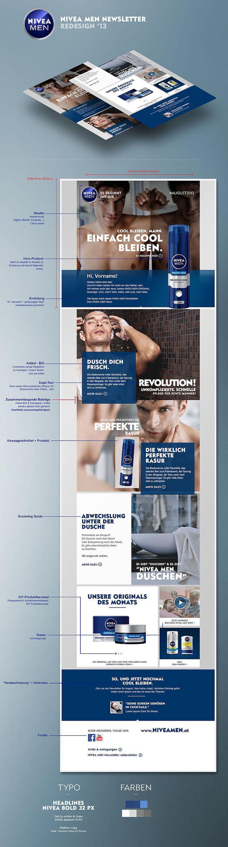 Performance optimiertes Redesign des NIVEA MEN Newsletters