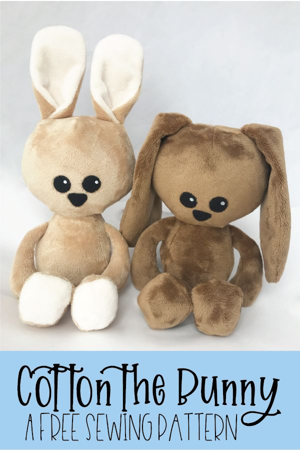 Free Bunny Softie Sewing Pattern