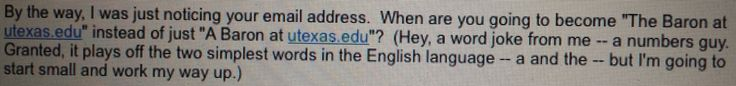 2/18/15 My stats professor joked about my email address