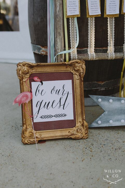 Be our guest - wedding sign