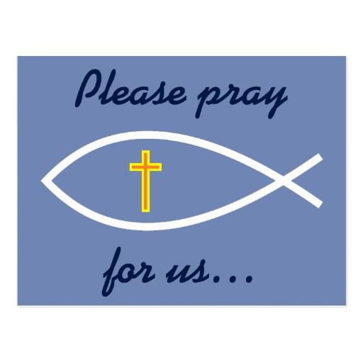 "Ichthys ""Please pray for us…"" Prayer Request Card"