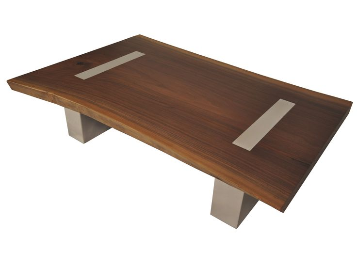 71 best muebles y aplicaciones madera vidrio y acero for Wood top metal legs coffee table