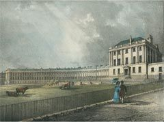 The Royal Crescent, Bath 1829  R. Woodroffe del On stone by W. Gauci published by C. Duffield at his Gallery of Engraving, 12 Milsom Street, Bath.