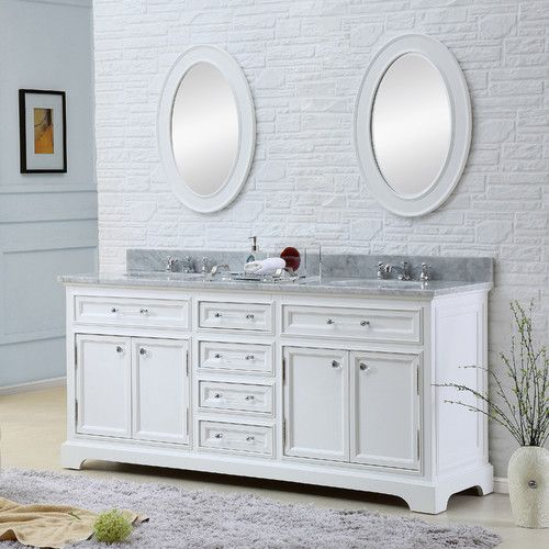 "Found it at Wayfair - Colchester 60"" Double Sink Bathroom Vanity Set - White"
