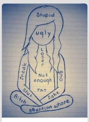 For Girls Group. The words I am sick of hearing when I walk into a high school. We need to choose positive labels for each other and throw away these garbage insults.