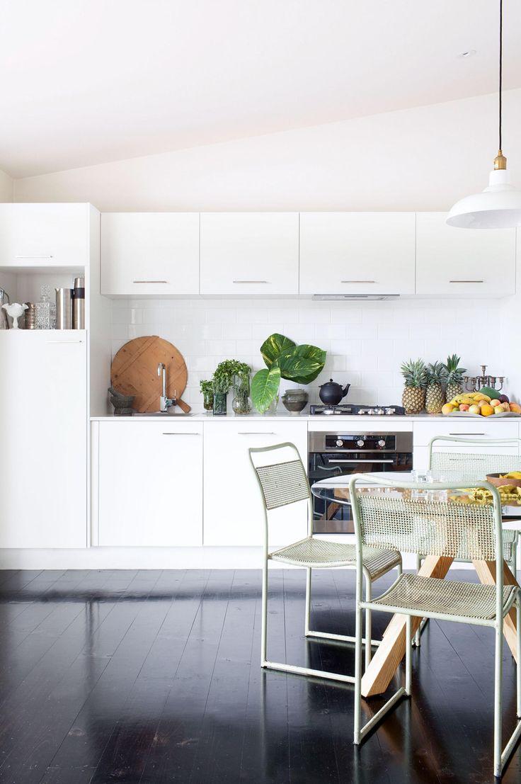 modern white Kitchen floorboards fruit Kaytar home Feb15