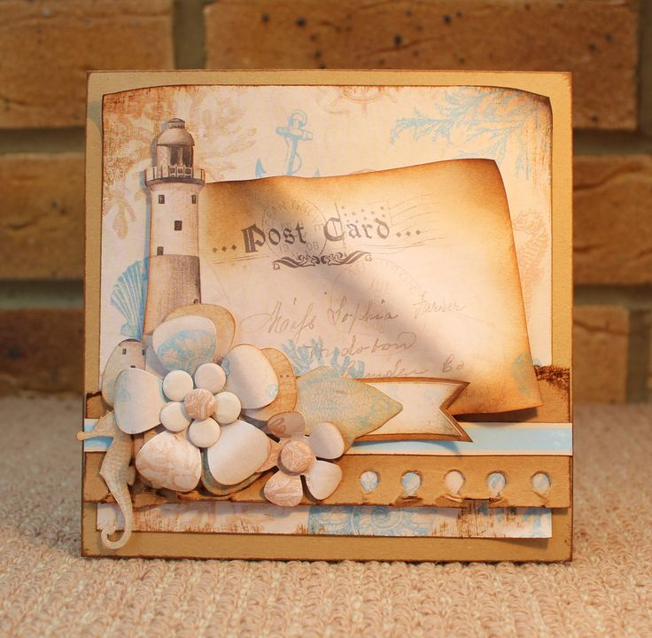 Card using Coastal Collection, by Sue Smith for Craftwork Cards.