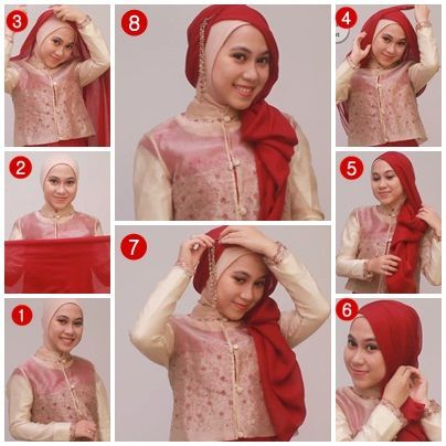Hijab Tutorila Pashmina Pesta