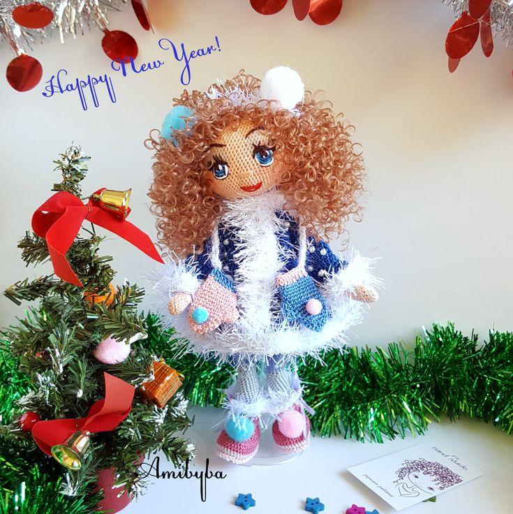 Snow Maiden  или Снегурочка. Crochet dolls #gift #amigurumi #kукларучнойработы #авторскаякукла #текстильнаякукла  #подарокдевочке  # kukluruchnoyraboty #authordoll #cloth_ made_doll #giftgirl