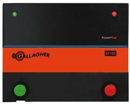 Gallagher 110 Volt Energizer M150 by Field Guardian. $145.00. 1.5 Joules. 110 Volt Energizer. Powers up to 60 acres or 11 miles of multi-wire fence. Ideally suited for small pastures. Gallagher M150 Energizer Gallagher 110 volt energizer has the ability to power up to 60 acres or 11 miles of multi-wire permanent fence. Model #G328504 Low Impedance Contains horses, cattle, bulls and pigs Plugs into 110-Volt outlet Stored Energy: 1.5 joules No Load: 7,200 volts 500 Ohm...