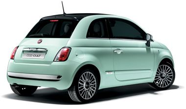 une jolie fiat 500 vert d 39 eau cabriolet s 39 il vous plait. Black Bedroom Furniture Sets. Home Design Ideas
